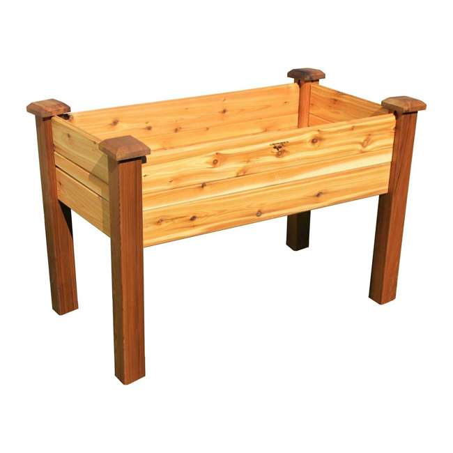 EGBD 24-48S Gronomics Western Red Cedar Elevated Garden Bed 24 x 48 x 30 Inches, Finished