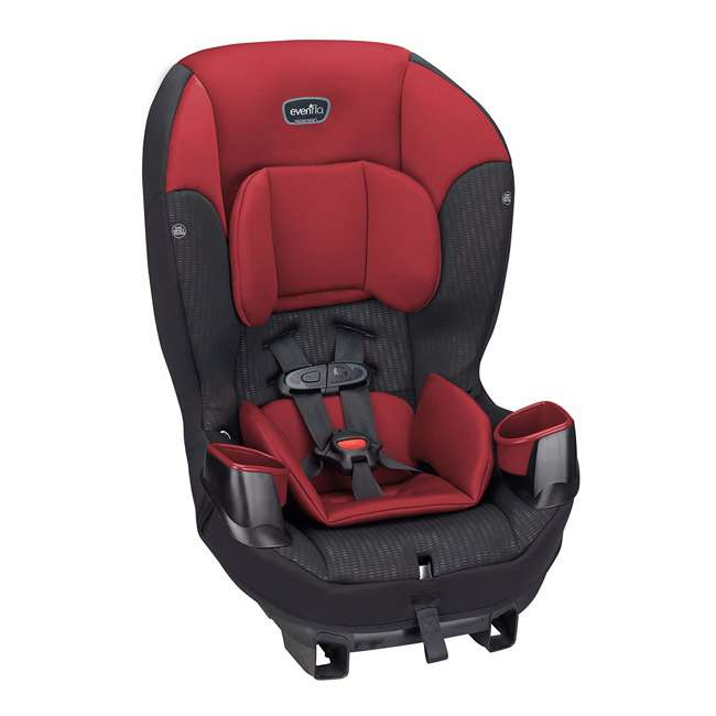 34812023 Evenflo Sonus 2 in 1 Convertible Travel Infant Baby Toddler Car Seat, Rocco Red 2