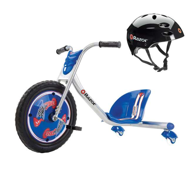 20036542 + 97778 Razor Rip Rider 360 Tricycle & Youth Sport Helmet