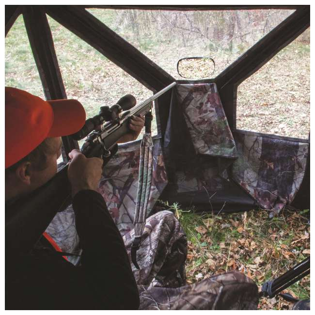 BARR-PT550BB Barronett Blinds Pentagon Pop Up Large Ground Hunting Hub Blind in Blades Camo 2