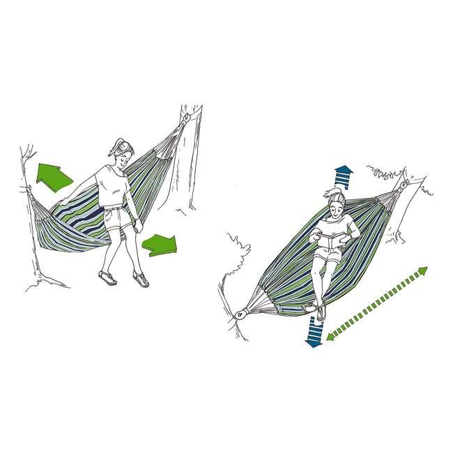 BRAZ125 Vivere Brazilian Style Cotton One Person Outdoor Backyard Hammock, Desert Moon 4