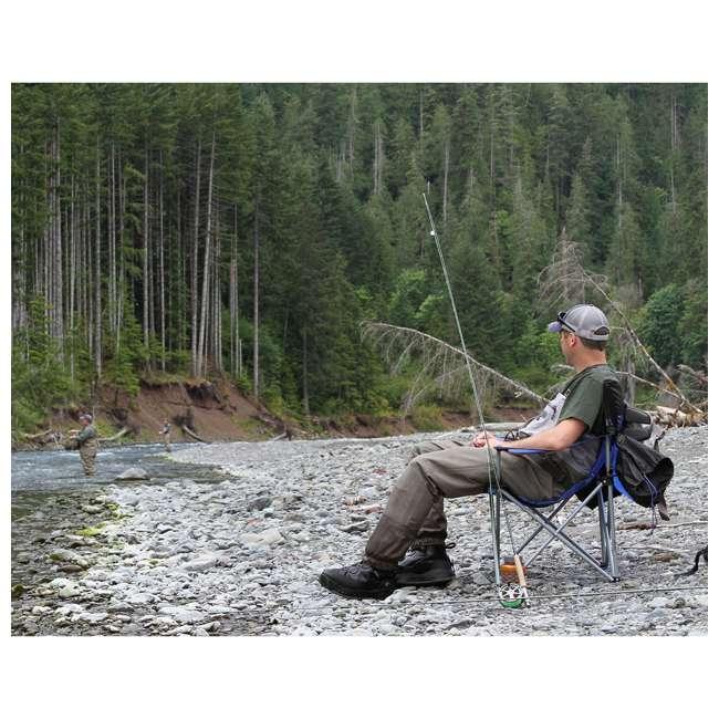 579VBK TravelChair 579V Teddy Folding Portable Camping Hunting Nylon Mesh Chair, Black 4