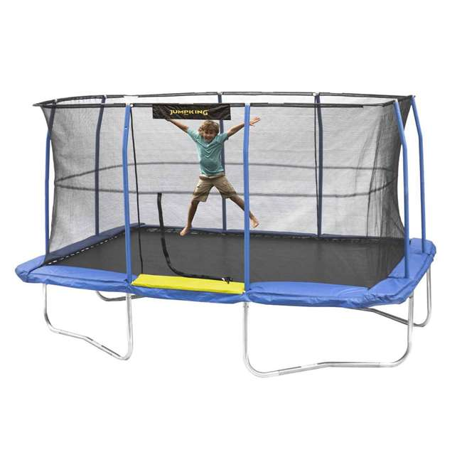 JKRC1014C319 JumpKing 10 x 14 Foot Enclosed Rectangular Trampoline  1