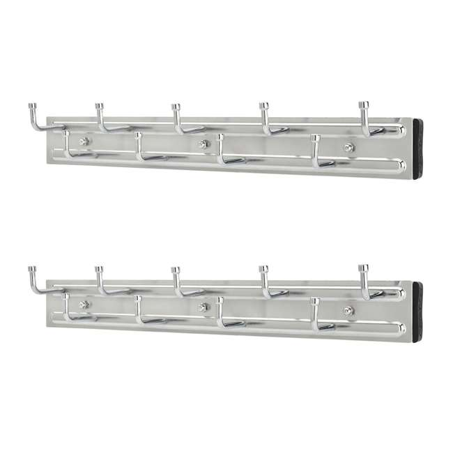 BRC-14CR Rev-a-Shelf BRC-14CR 14 Inch Wall Mounted Pullout Belt Rack, Chrome (2 Pack)