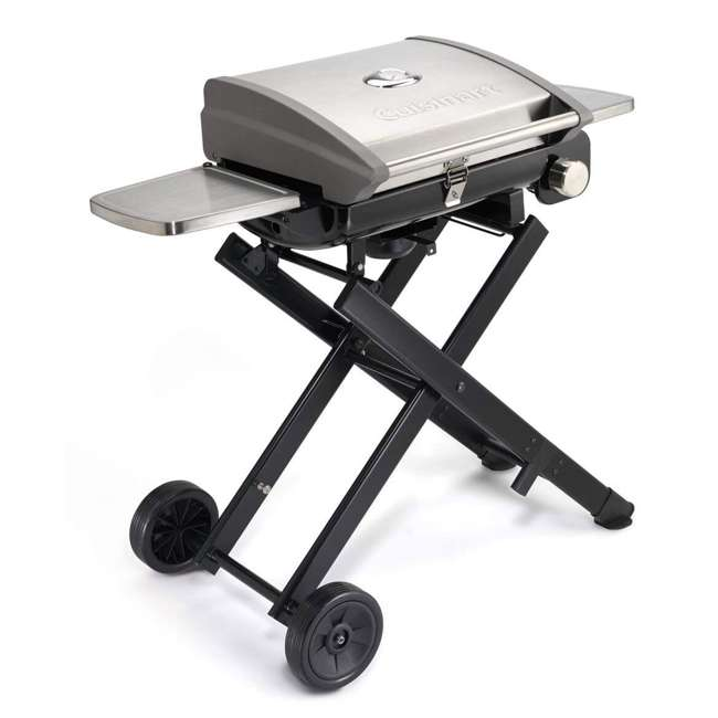 CGG-240 Cuisinart All Foods Roll Away Gas Grill Portable 15,000 BTUs Stainless Steel Burner