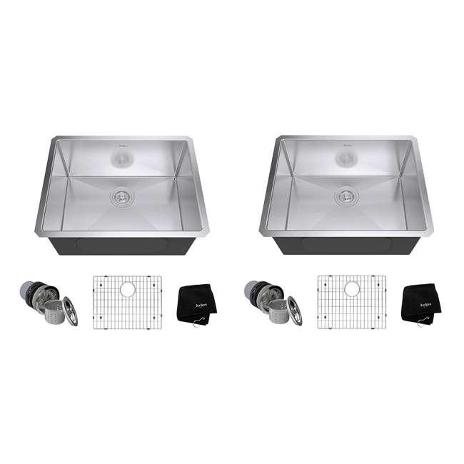 KHU101-23 Kraus 23-Inch Rectangular Undermount Stainless Steel Kitchen Sink (2 Pack)