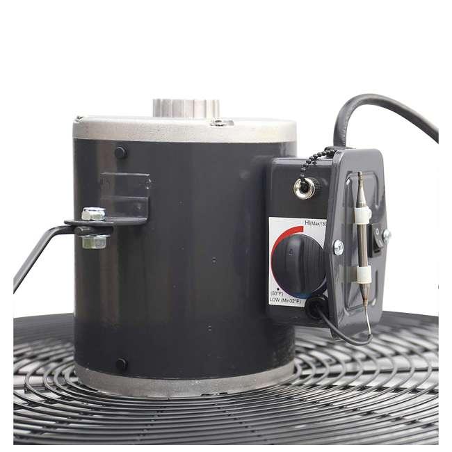 ILG8SF20V-T iLiving ILG8SF20V-T 2 Speed 20 Inch Exhaust Attic Garage Grow Fan w/ Thermostat 4