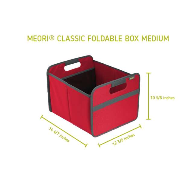 A100062 + A100200 + A100019 + A100213 Meori Classic Collection Boxes & Shopping Box, Hibiscus Red 11