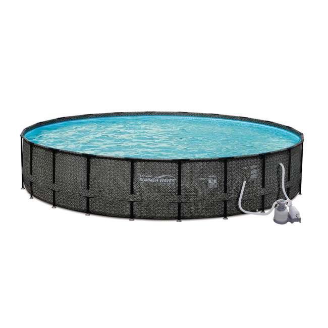 """P4A024521167 + 4 x K10423D00167 + KF0226B00167 Summer Waves 24' x 52"""" Pool Set + Corona Pool Floats (4 Pack) + Floating Cooler 1"""