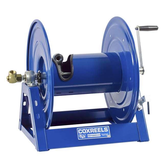1125-5-100 Coxreels 1125 Series Steel Hand Crank Hose Reel 100 Foot Hose Capacity, Blue