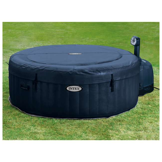 28505E + 28405E Intex 28405E Pure Spa 4-Person Inflatable Hot Tub With Headrest 8