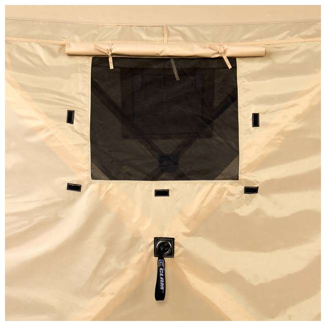 CLAM-PV-114244 + CLAM-PV-FLOOR-12878 Clam Quick Set Portable Canopy + Floor Tarp Attachment 4