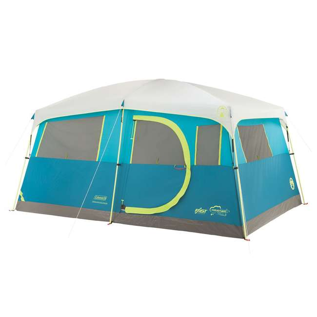 A-2000018088-G + ENGCB2-P1PO Coleman Tenaya Lake 8-Person Cabin Tent & 24 Can Backpack Cooler 1