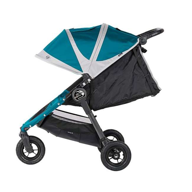 1959401 Baby Jogger City Mini GT Folding Travel Stroller, Teal/Gray 3