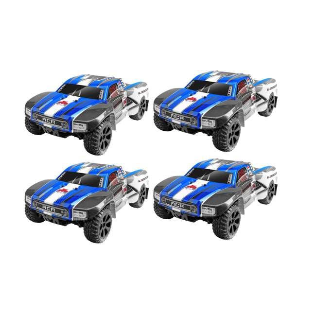 4 x BLACKOUT-SC-BLUE Redcat Blackout SC Brushed Electric RC Short Course Truck, Blue (4 Pack)