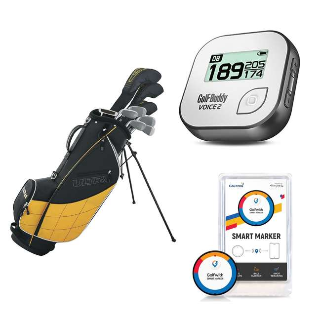 WGGC4300L + GB7-VOICE2-GREY + PGSMGps Wilson Men's Golf Club Set + Golf Buddy GPS Range Finder + Golfwith Smart Marker