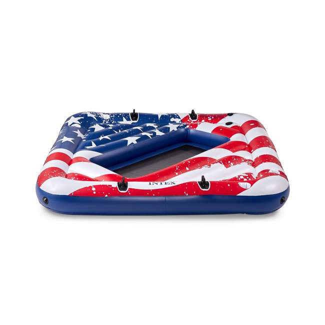 3 x 57264VM Intex 57264VM Inflatable American Flag 2 Person Party Island Lake Pool Float (3 Pack) 4