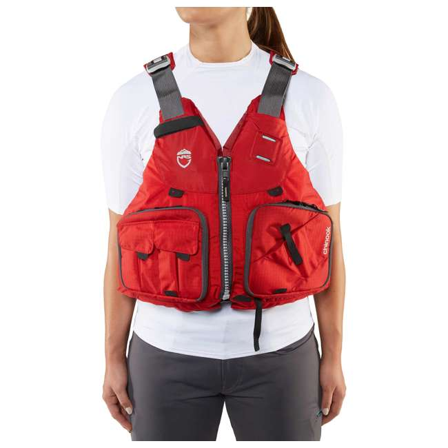 NRS_40009_04_105 NRS PFD Chinook Unisex Fishing Lifejacket, Red, Large/XL 2