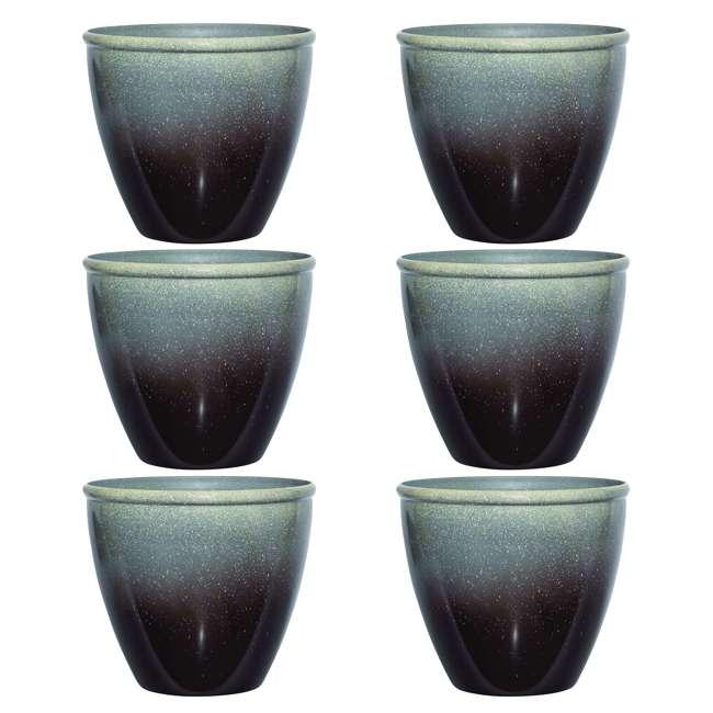 1606BP36 Seneca 16-Inch Ombre Planter Flower Pot, Bronze/Brown  (6 Pack)