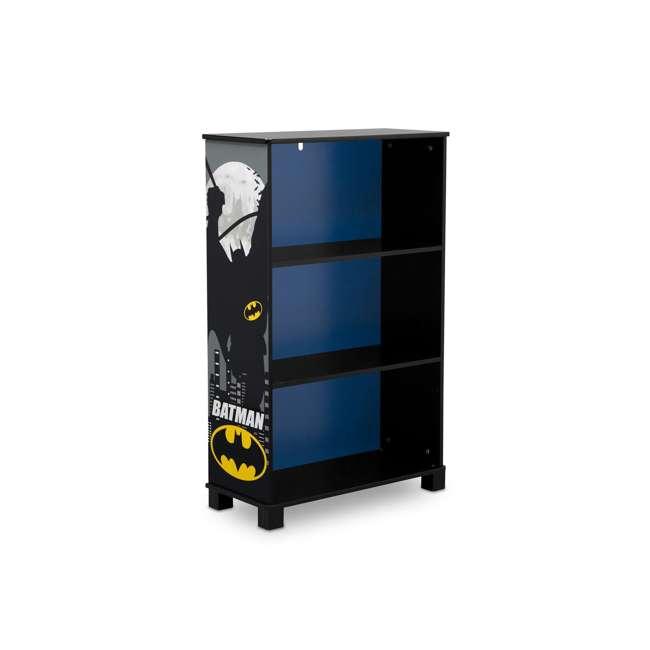 FL86731BT-1200 Delta Children Kids DC Superhero Batman Wooden 3 Shelf Bookshelf Bookcase, Black