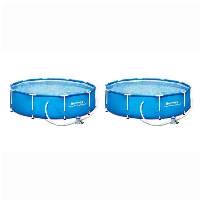 """56407E Bestway 10' x 30"""" Steel Pro Frame Above Ground Pool (2 Pack)"""