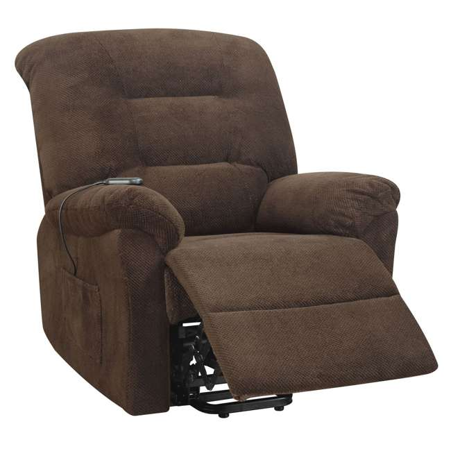 600397ii Coaster Home Furnishings Remote Power Lift Recliner, Chocolate