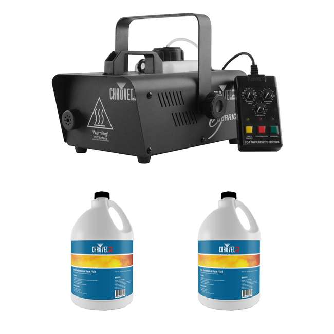 H1200 + 2 x HFG-FLUID CHAUVET DJ Hurricane 1200 1L Pro Fog Machine + Water Based Fog Fluid (2 Pack)