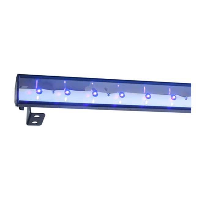 3 x ECO-UVBAR-PLUS-IR American DJ Eco UV Bar Plus IR Ultraviolet LED Black Light Fixture w/Remote (3) 5