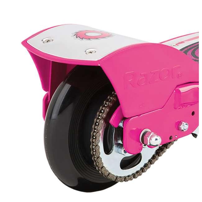 13111269 + 97783 Razor E175 Electrical Kids Scooter in Pink & V17 Sport Helmet in Satin Pink 4