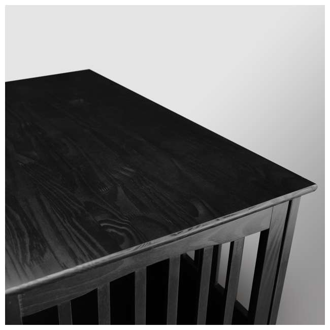 600-22 Casual Home Large Pet Crate End Table, Black 3