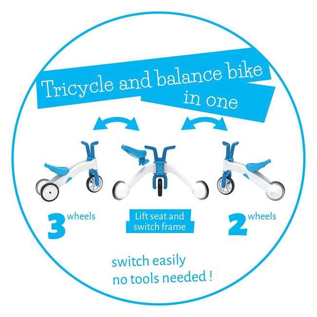 CPBN02BLU Chillafish CPBN02BLU Bunzi Childrens Gradual Balance 2 in 1 Tricycle Bike, Blue 3