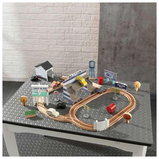 KDK-18015-U-A Kidkraft Disney Pixar Cars 3 50 Piece Thomasville Speedway Track Set (Open Box) 5