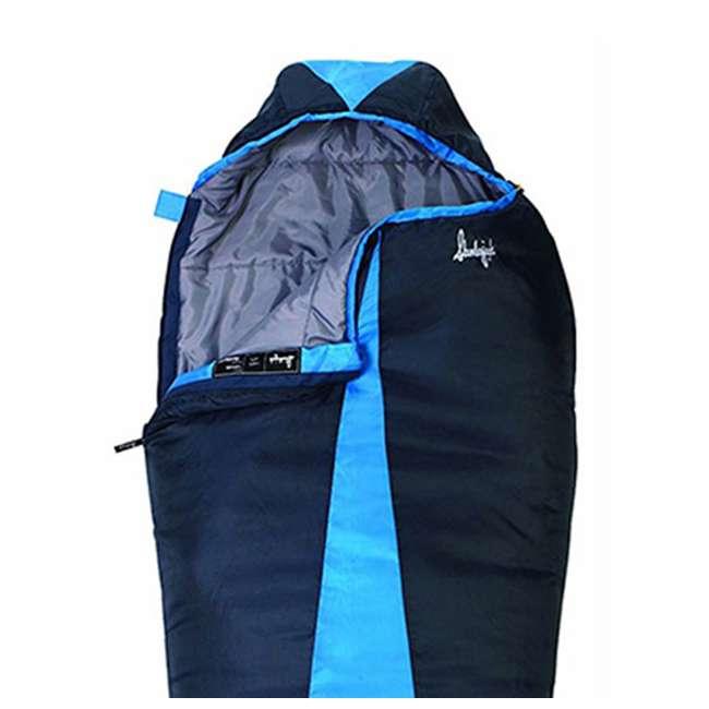 4 x 51723811RR Slumberjack Latitude 40-Degree Polyester Sleeping Bag, Blue (4 Pack) 5
