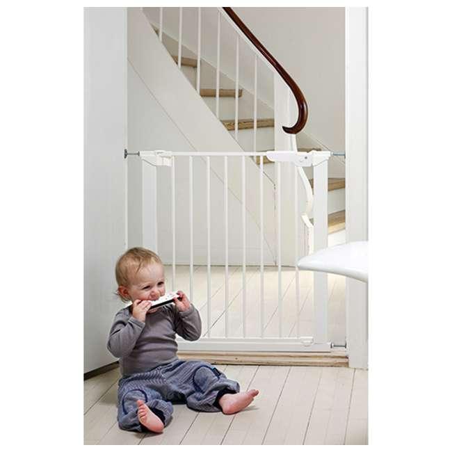 BBD-60114-5492 BabyDan Premier True Pressure Fit 28.9-36.7 Inch Doorway Safety Baby Gate, White 4