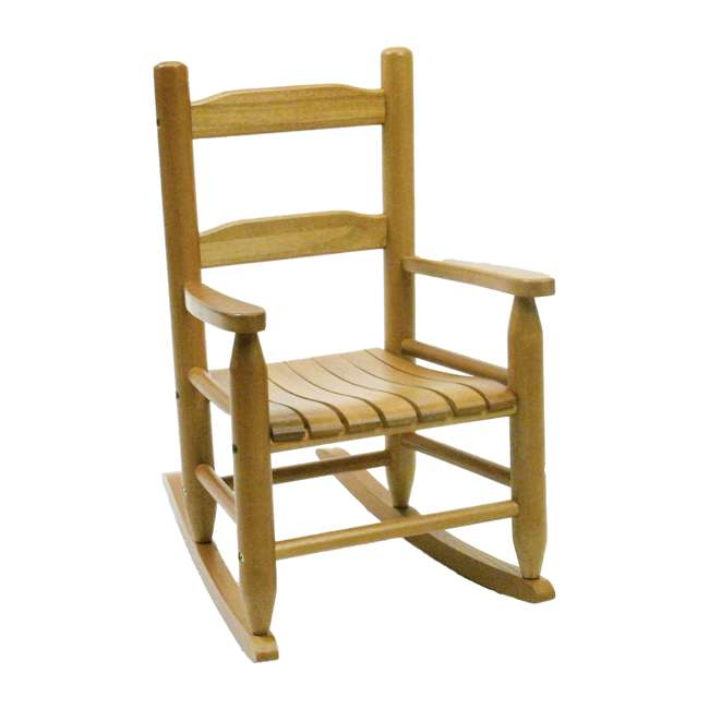LP-555 Lipper Child's Wooden Rocking Chair, Natural Finish