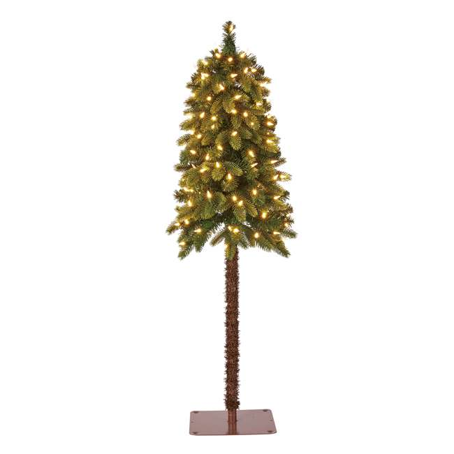 TV40P2819L00 Home Heritage True Bark 4 Foot Artificial Christmas Tree w/ White Lights (2 Pk) 1