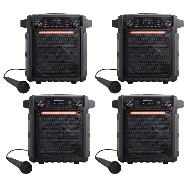 4 x iPA79A-Grey ION Audio Pathfinder Speaker with Radio & Microphone (4 Pack) 4