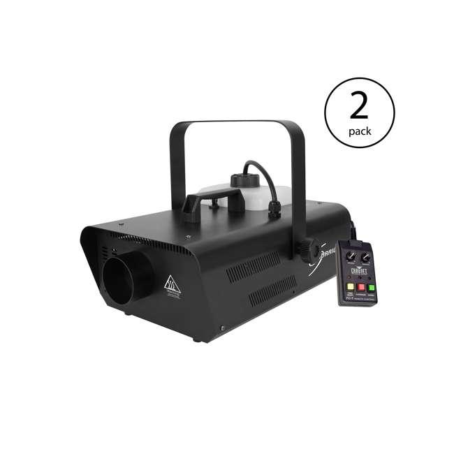 H1302 Chauvet DJ Hurricane Fog Machine w/ Remote (2 Pack)