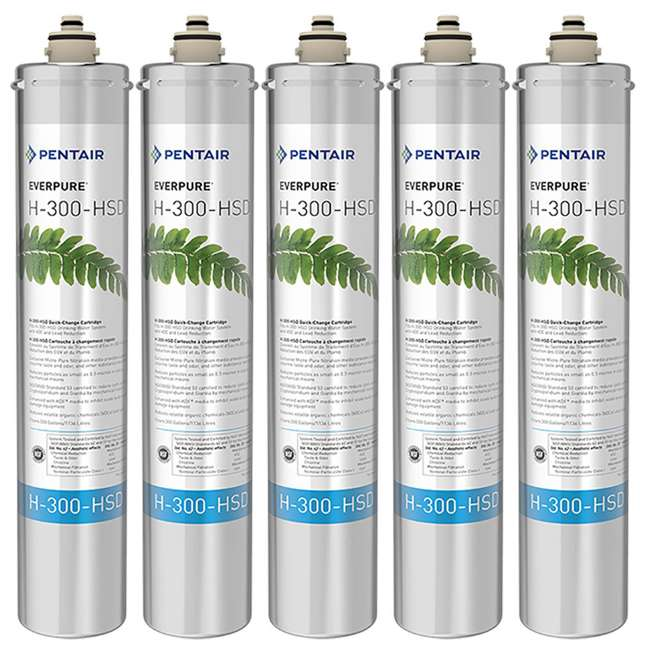 5 x EV927075 Pentair Everpure H-300-HSD Water Filter Replacement Cartridge (5 Pack)