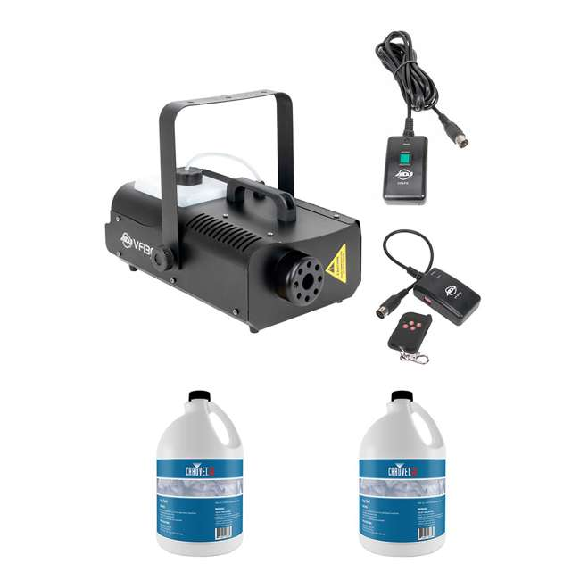 VF1300 + 2 x FJU American DJ 1300 Watt 2.3 L Tank Mobile Fog Machine & Fog Juice (2 Gallons)