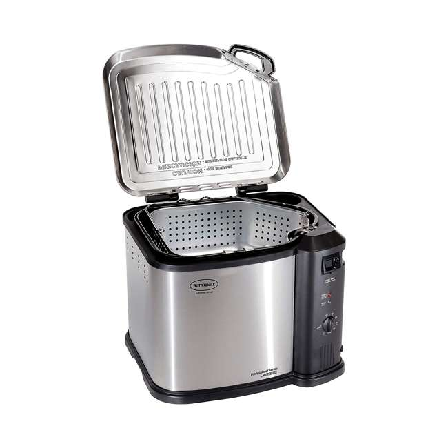 BB-MB23010618 Masterbuilt Butterball XL Electric Turkey Fryer, Stainless Steel 2