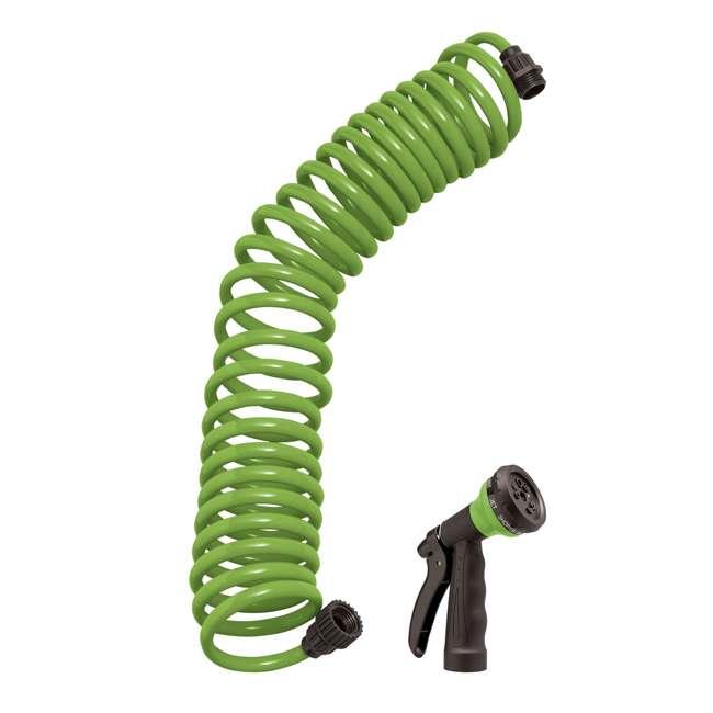 3 x ORBIT-26380 Orbit 25-Foot Green Coil Garden Hose w/ 8 Spray Patterns (3 Pack) 1