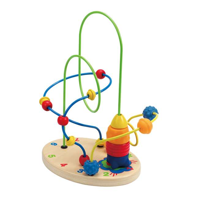 HAP-E1806 Hape Children's Countdown Activity Wooden Bead Maze Toy