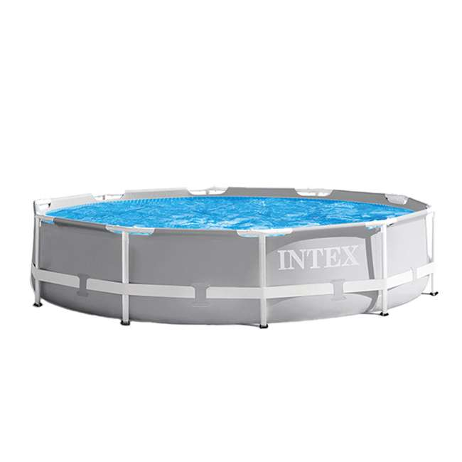26701EH + 28030E Intex 10 Foot x 30 Inches Pool w/ 10-Foot Round Cover 1