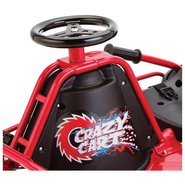 25143499 Razor Crazy Cart Electric 360 Spinning Drifting Ride On Go Cart  2