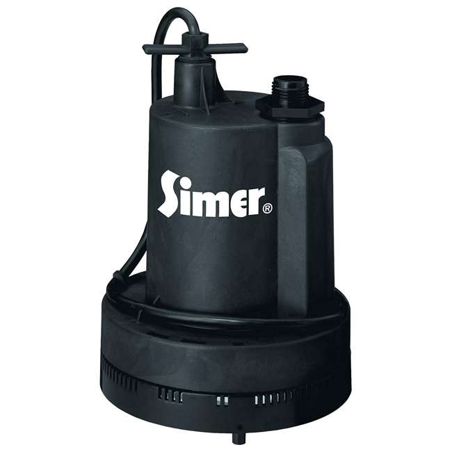 2355-04 Simer 2355-04 Super Geyser 1/3 HP Submersible Utility Pump
