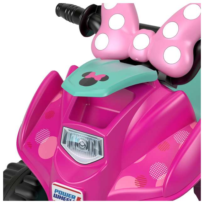 FLK44-U-A Fisher Price Power Wheels Toddler ATV Ride On Minnie Mouse Lil Quad (Open Box) 7