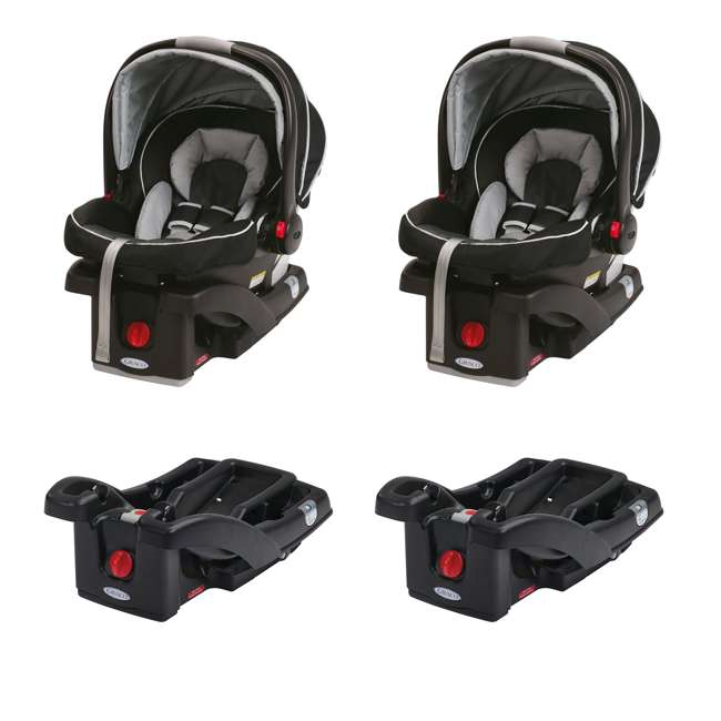 graco click connect infant car seats graco click connect seat bases 2 pairs 1893807 2 x. Black Bedroom Furniture Sets. Home Design Ideas