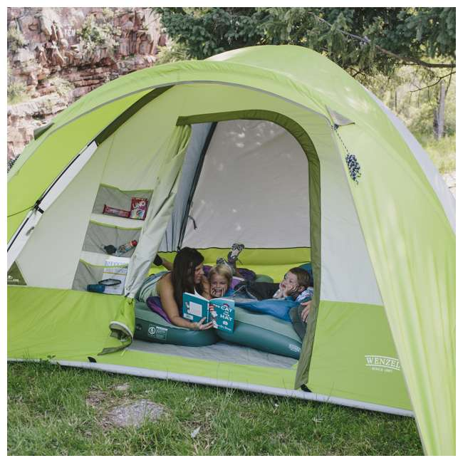 7362516 Wenzel 8-Person Portico Outdoor Family Camping Tent, Green (2 Pack) 4