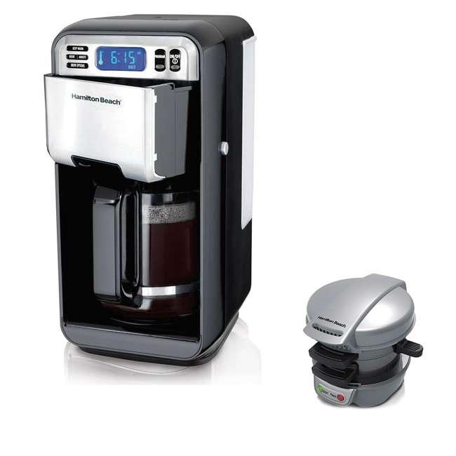 46205 + 25475 Hamilton Beach 12 Cup Coffeemaker w/ Breakfast Sandwich Maker